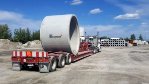 Forterra concrete pipe on truck bed