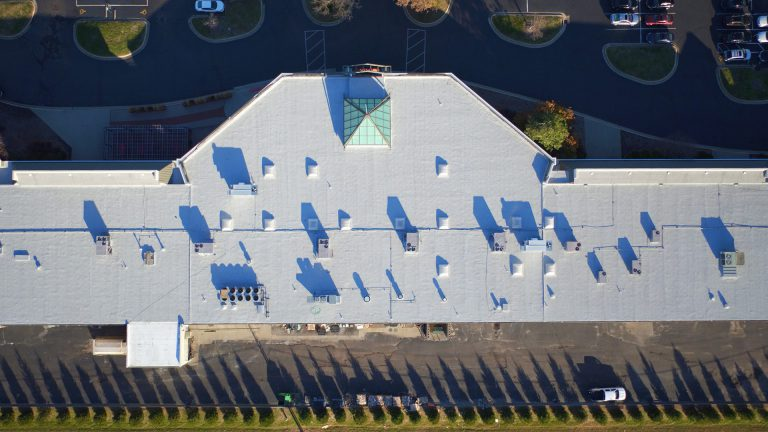IRC Roofing project aerial view