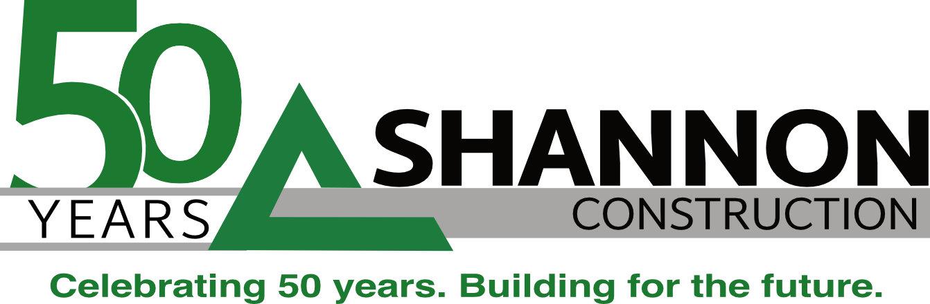 shannon construction logo 50th anniversary